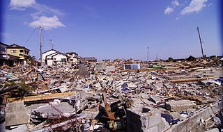 Post-tsunami devastation in Iwaki