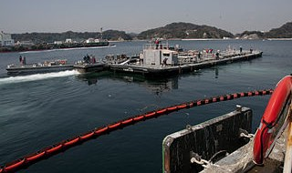 Water barge at Fukushima, 2011
