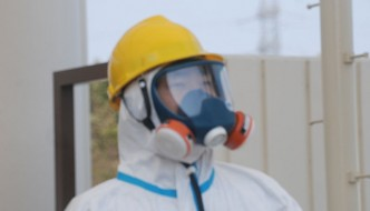 decontamination worker